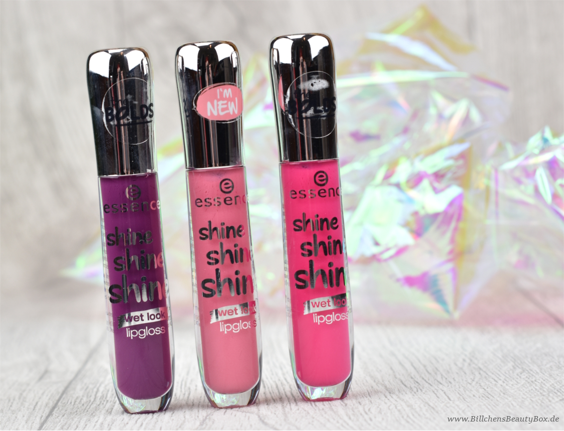 essence - shine shine shine Lipgloss - Review & Swatches aller Farben