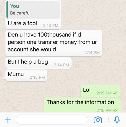 "See ""local yahoo boy"" who buys airtime using people's bank account"