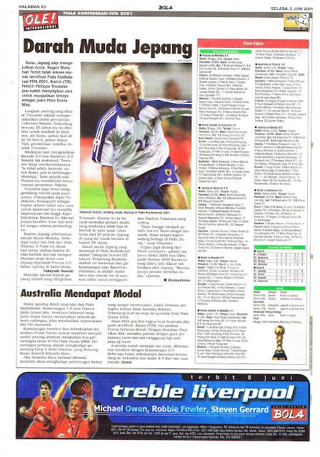 PIALA KONFEDERASI-FIFA 2001: DARAH MUDA JEPANG