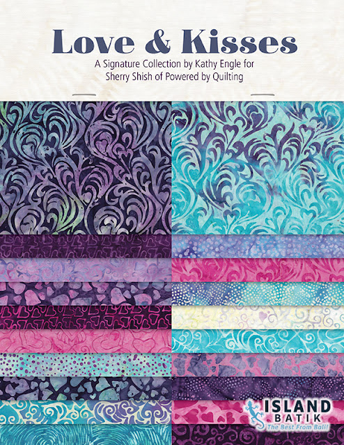 Love & Kisses batik fabric from Island Batik