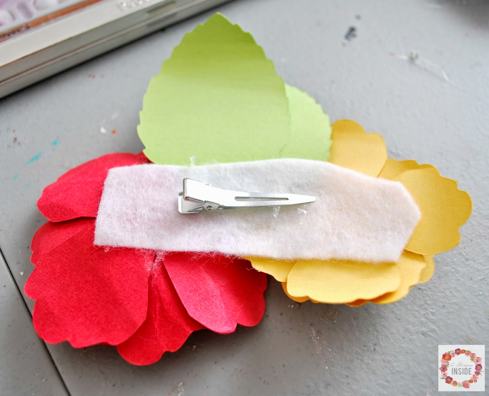 Paper Flower Corsage Vaydileforic