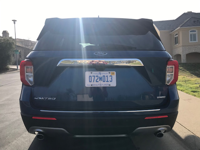 Rear view of 2020 Ford Explorer Limited Hybrid