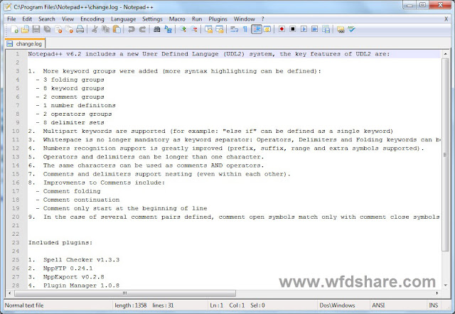 Notepad++ 6.9.1 Final Gratis