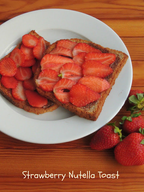 Strawberry Nutella Toast