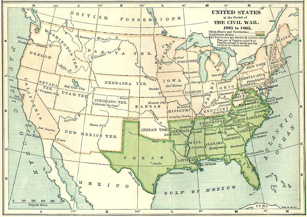 Harpers Ferry On Us Map - Us-map-civil-war-era