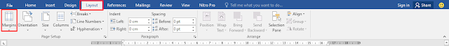 menu bar ms word