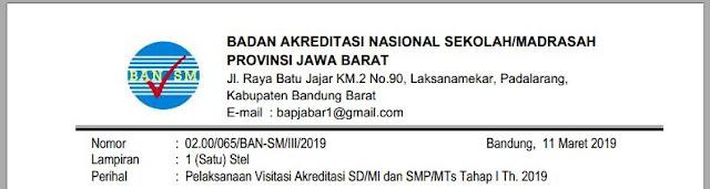 Pelaksanaan Visitasi Akreditasi SD/MI dan SMP/MTs Tahap I Th. 2019, https://librarypendidikan.blogspot.com