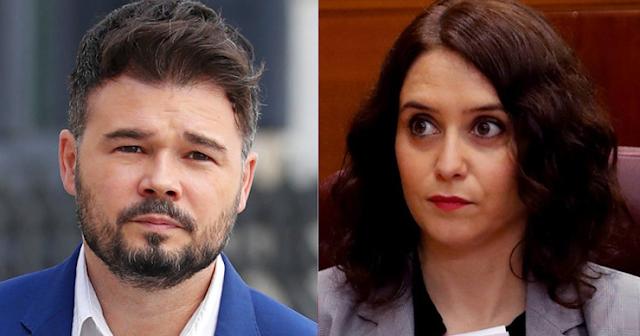 Gabriel Rufián e Isabel Díaz Ayuso