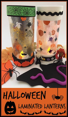 Halloween laminated lanterns craft