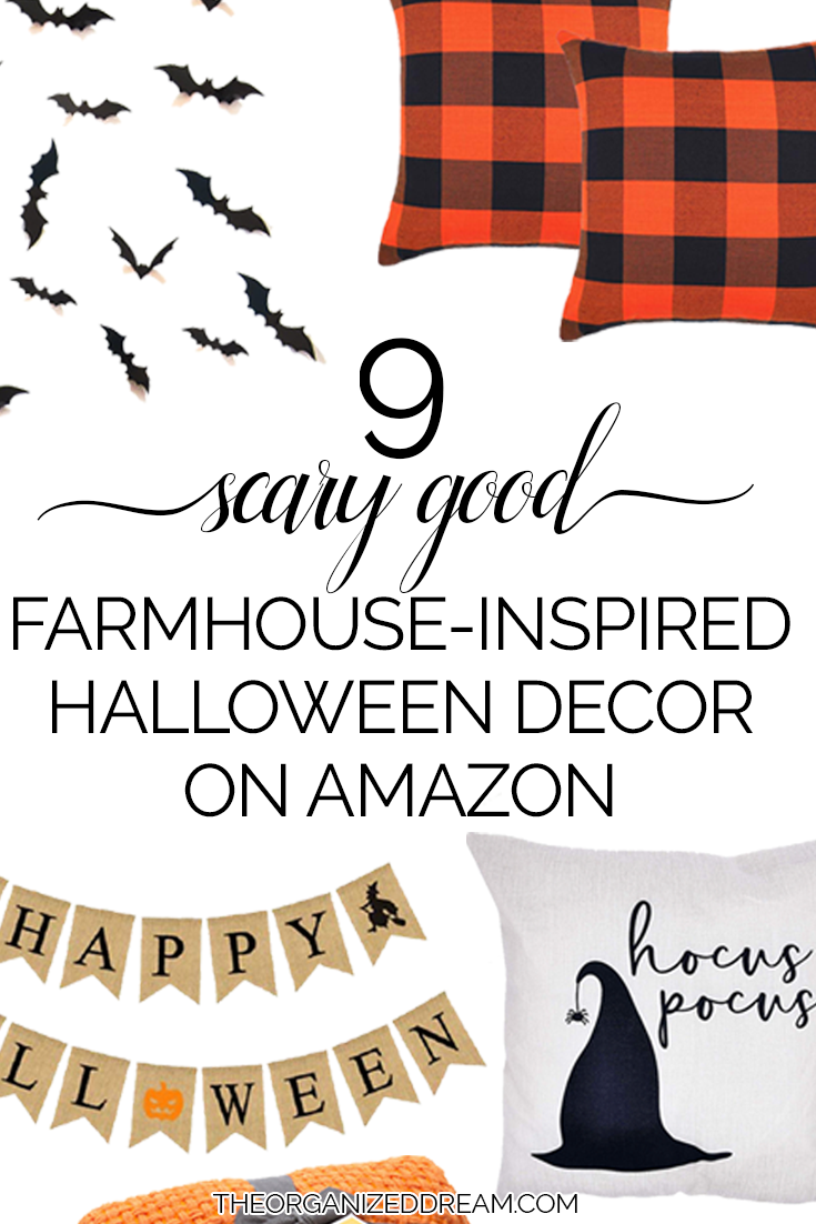9 scary good farmhouse-inspired Halloween decor on Amazon!  #farmhouse #halloween #homedecorating #amazon