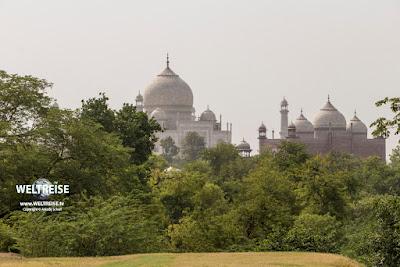 Taj Nature Walk und Taj Mahal in Agra, Indien. www.WELTREISE.tv
