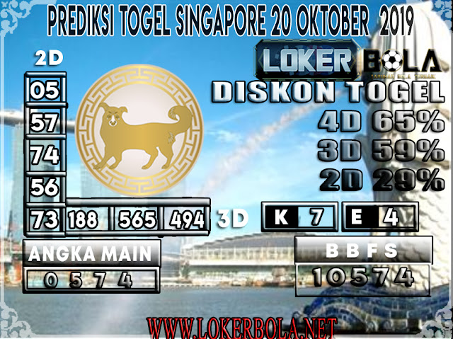 PREDIKSI TOGEL SINGAPORE LOKERBOLA  20 OKTOBER 2019