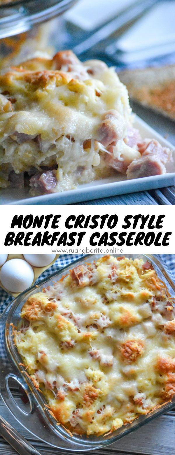 Monte Cristo Style Breakfast Casserole #monte #cristo #breakfast #casserole