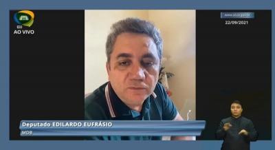 Deputado Edilardo Eufrásio destaca projetos de sua autoria aprovados