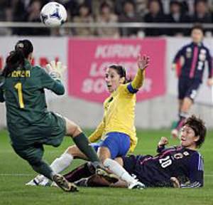 なでしこジャパン対ブラジル