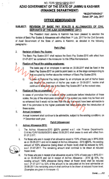 AJK-Government-Notification-of-Revised-Pay-Scale-2017-Finance-Department-Azad-Jammu-and-Kashmir