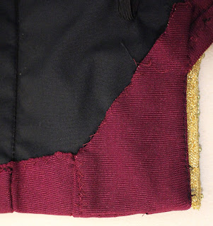 TNG season 1 admiral jacket - lower left interior