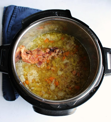 cooked split pea soup in instant pot