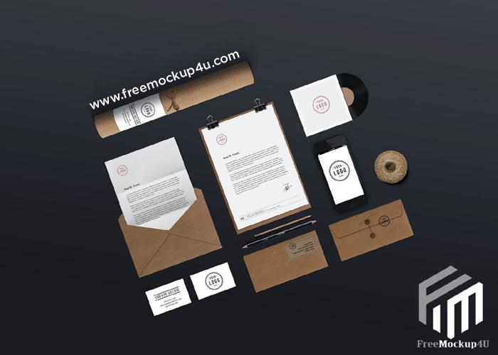 Office Stationary Logo Minimalist Mockup Psd Template 3