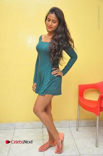 Telugu Actress Prasanthi Stills in Green Short Dress at Swachh Hyderabad Cricket Press Meet  0102.JPG
