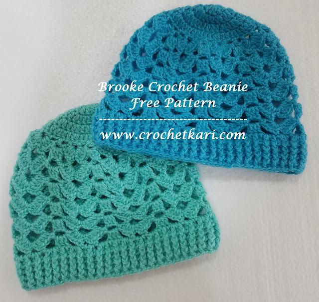 crochet brooke beanie free pattern