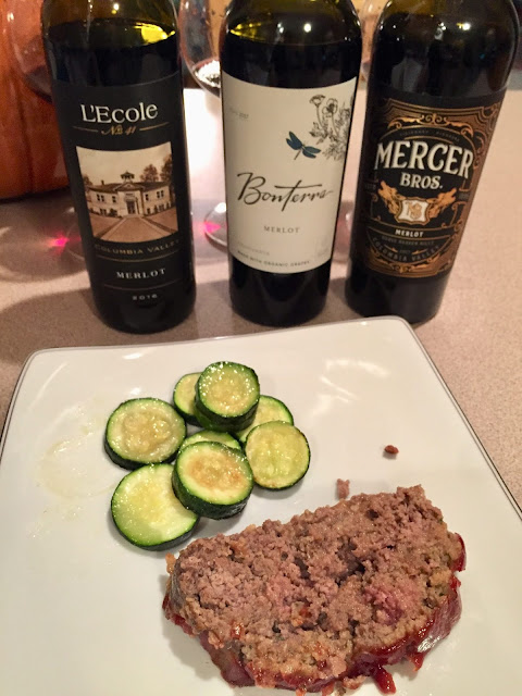 Meatloaf pairing with Merlot