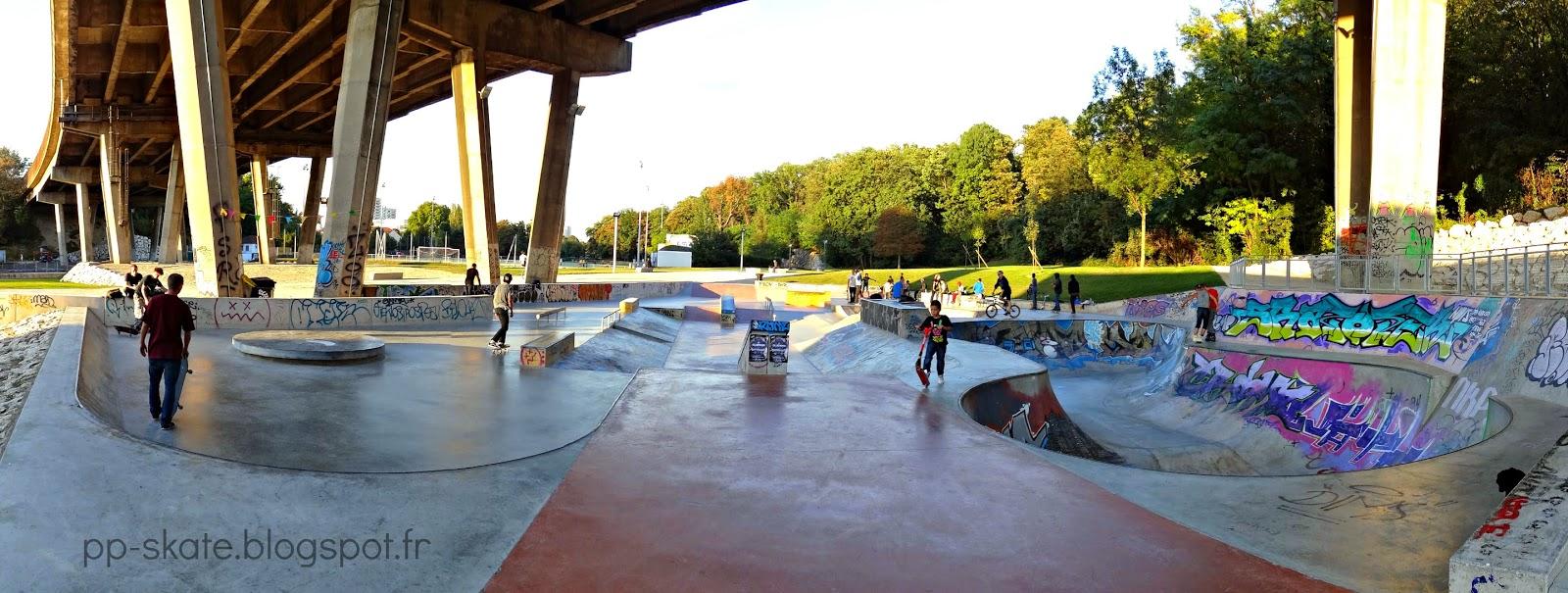 skatepark Arcueil panoramique
