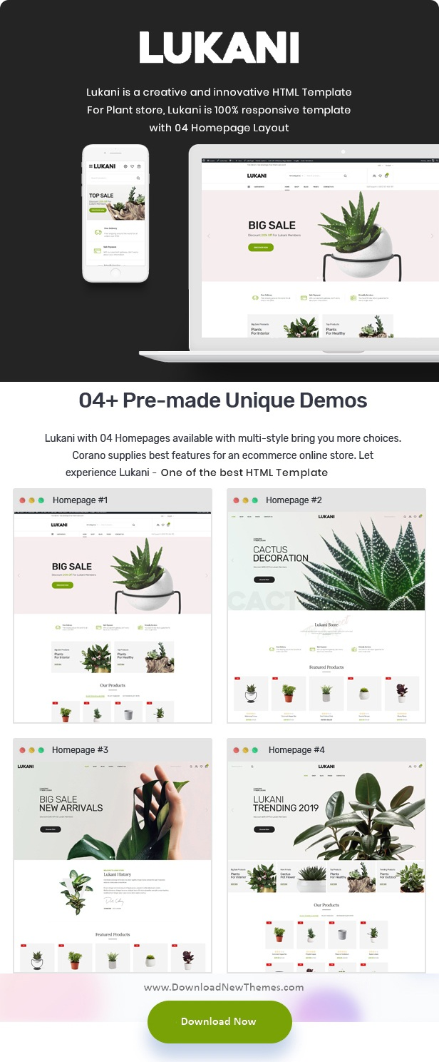 Perfect Plant and Flower Shop HTML Template