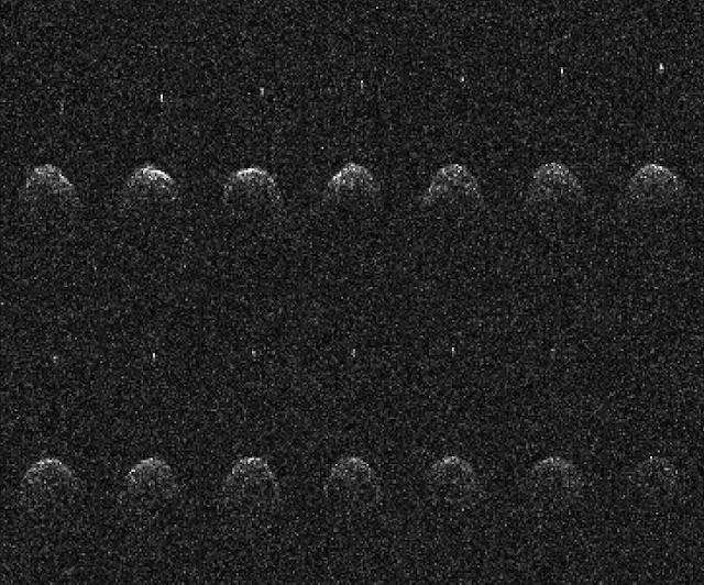 65803 Didymos - Imagens de radar feitas pelo observatório do Arecibo em Porto Rico