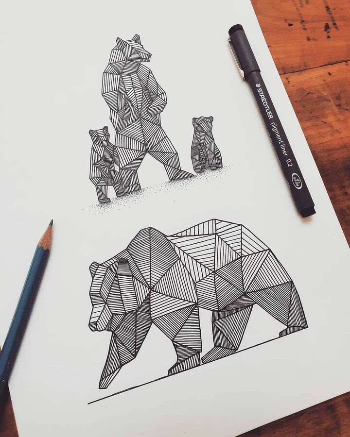 02-Bear-mother-and-babies-Tobias-www-designstack-co