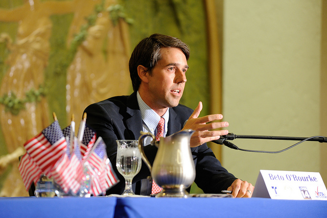 Image Attribute: The file photo of Beto O'Rourke at the Telemundo Debate on October 4, 2012. / Source: Flickr/CC BY-ND 2.0