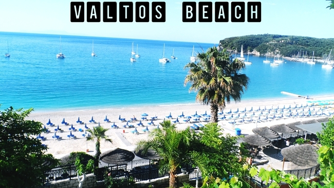 Parga travel video Valtos beach.Parga video snimak Valtos plaza.