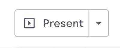 """Botón """"Presentar"""" que anteriormente iniciaba una presentación de diapositivas en Presentaciones"""