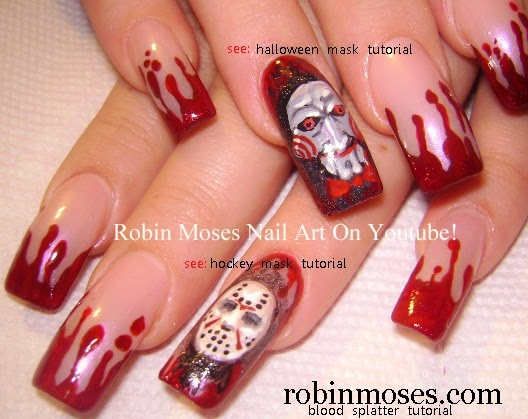 kiss of death nail art bloody kisses