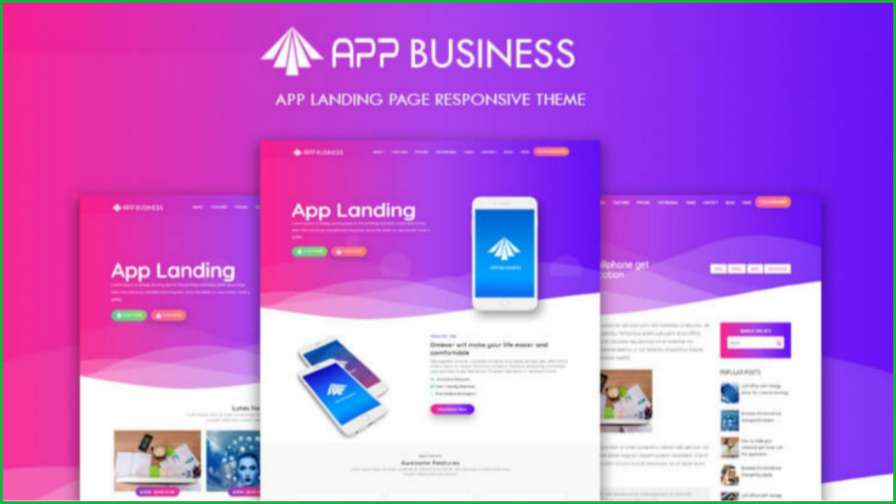 App-business-blogger-template