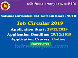 National Curriculum and Textbook Board (NCTB) Job Circular 2019