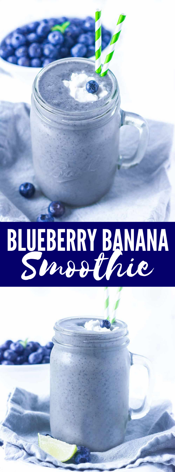 Blueberry Banana Smoothie #drinks #breakfast