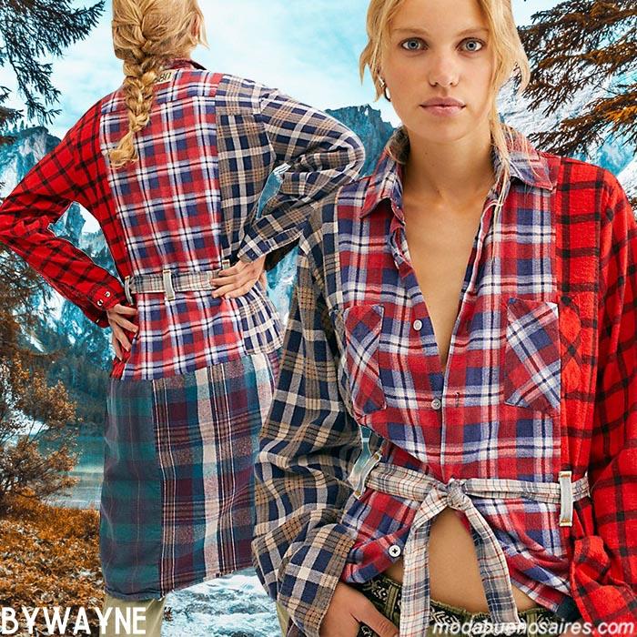 Camisas a cuadras mujer invierno 2020.