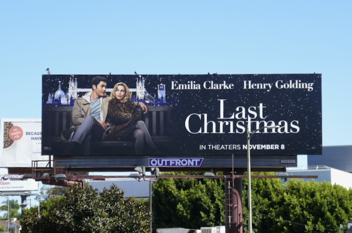Last Christmas movie billboard