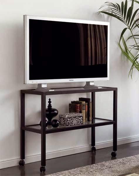 Mesa para television en forja con ruedas