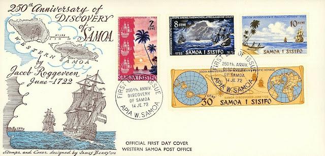 Jacob Roggeveen Samoa FDC