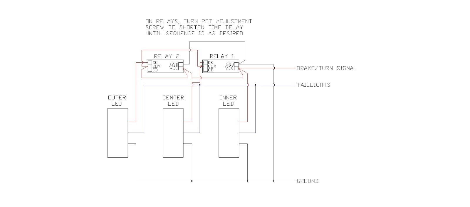 diy sequential led taillights under 30 vintage mustang forums rh forums vintage mustang com 3 wire to make a led tail light diagram  [ 1600 x 704 Pixel ]