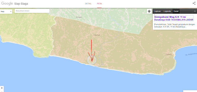 Gempabumi Mag 6.9: 11 km BaratDaya KAB-TASIKMALAYA-JABAR