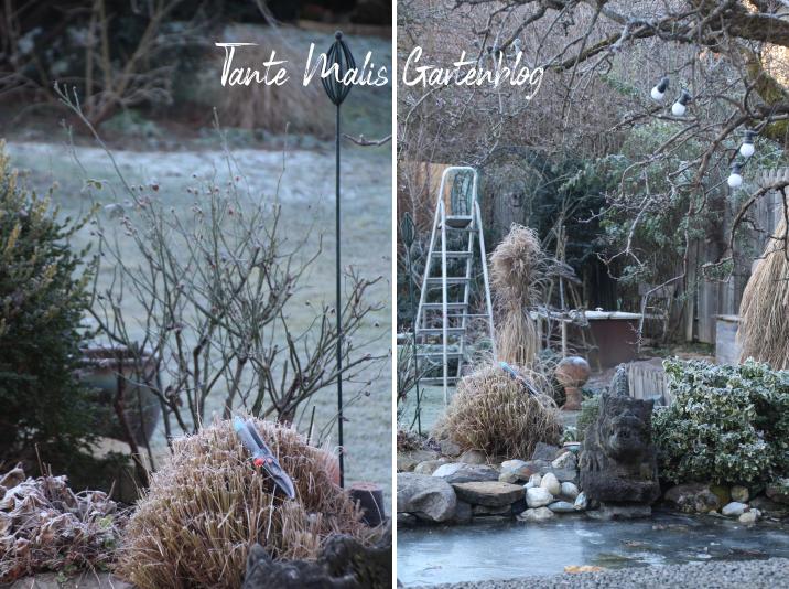 Garten Frost Stehleiter