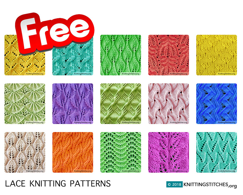 List of Lace knitting stitches, Knitting patterns and Lace knitting.
