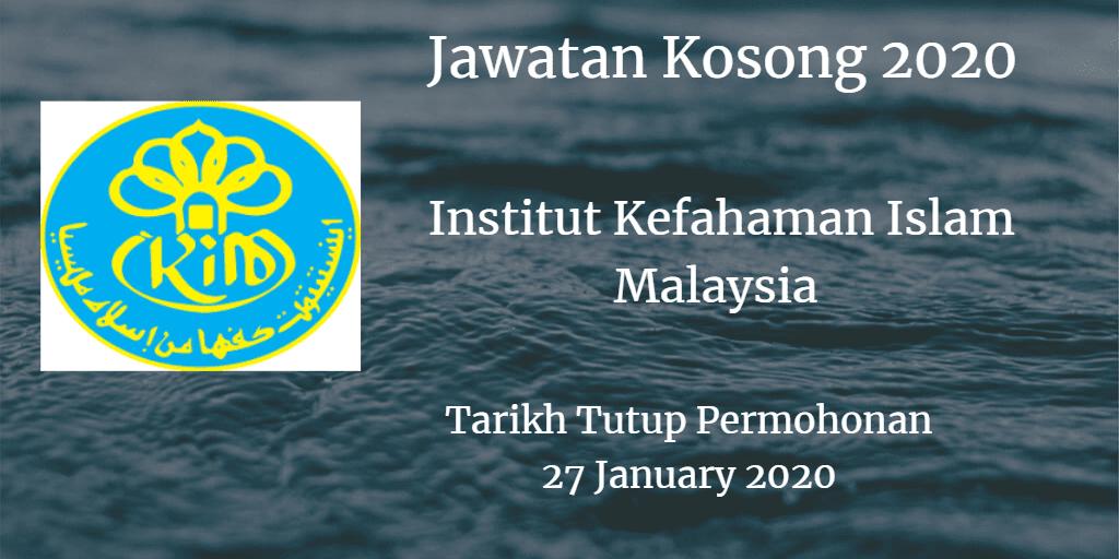 Jawatan Kosong IKIM 27 January 2020