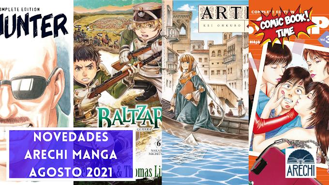 Novedades Arechi Manga para agosto 2021