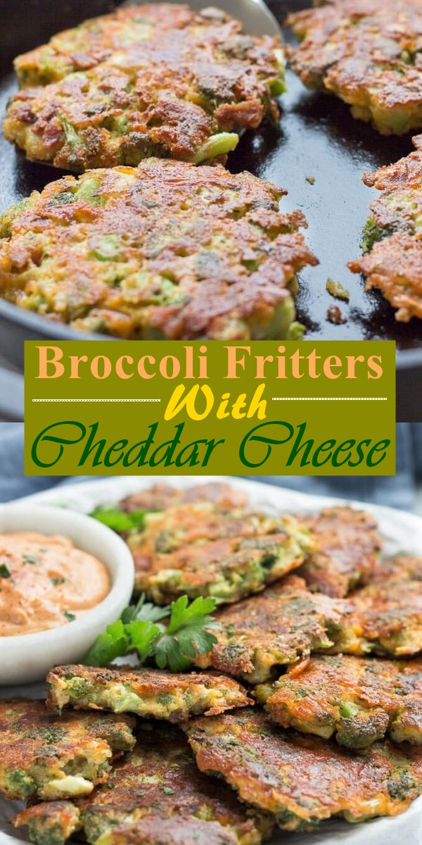 Broccoli Fritters With Cheddar Cheese (Easy Low Carb Recipe) #Lowcardrecipes