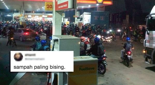 """Wanita gelar kumpulan penunggang motorsikal """"sampah paling bising"""""""