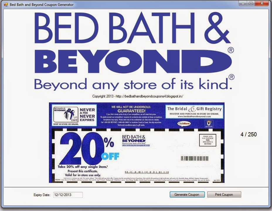 Bed Bath And Beyond Online Order Coupon